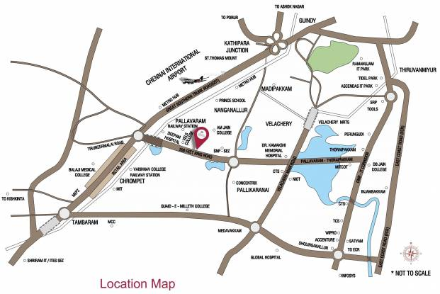 Alliance Galleria Residences Location Plan
