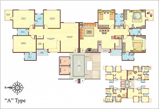 Happy Home Nandini Cluster Plan