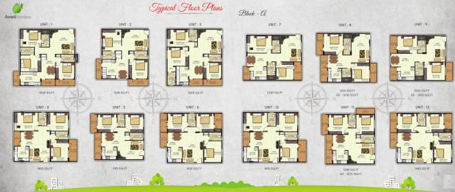 Avani Gardens Cluster Plan