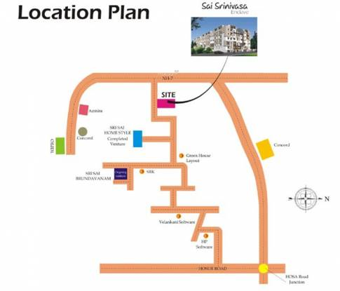 Pujitha Sri Sai Home Style Location Plan