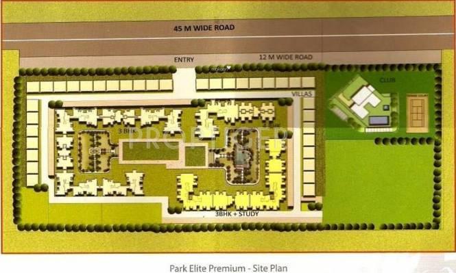 BPTP Park Elite Premium Villa Site Plan