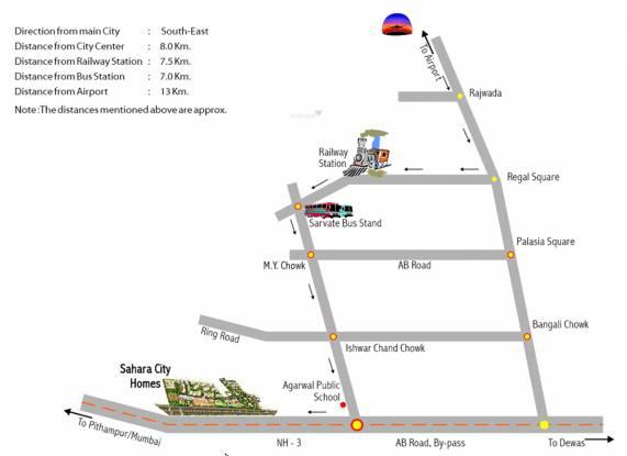 Sahara City Homes Location Plan