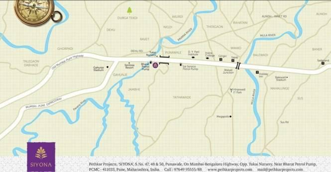 Pethkar Siyona Phase I Location Plan