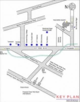 Tamilnadu Colony Extn I Location Plan