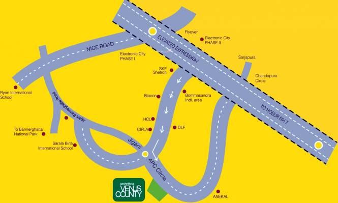 Aashrithaa Venus County Location Plan