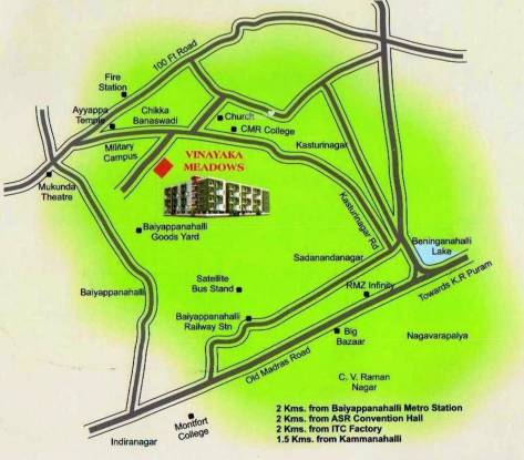 Vinayaka Meadows Location Plan