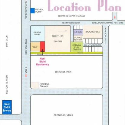 Neelsidhi Residency Location Plan