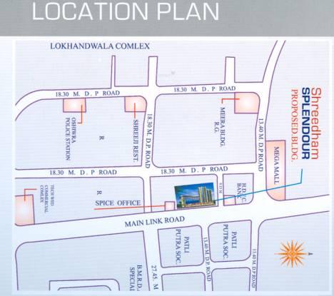 Shreedham Splendour Location Plan