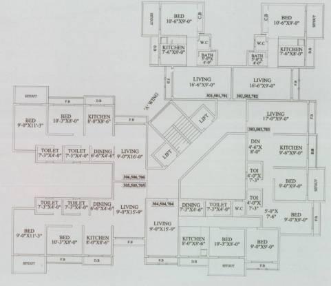 Shree Parasnath Jay Vijay Nagari No 2 Cluster Plan
