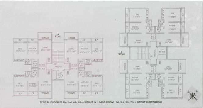 Sanskruti Cherry Residency Cluster Plan