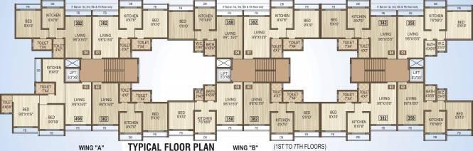 Bachraj Residency Cluster Plan