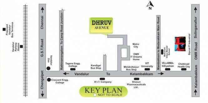 SM Dhruv Avenue Location Plan