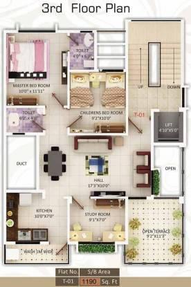 Chavan Satyajeet Apartment Cluster Plan