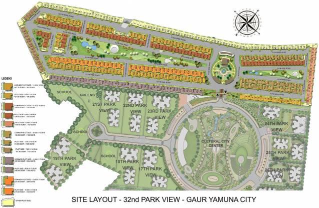 Gaursons 32nd Parkview Gaur Yamuna City Layout Plan