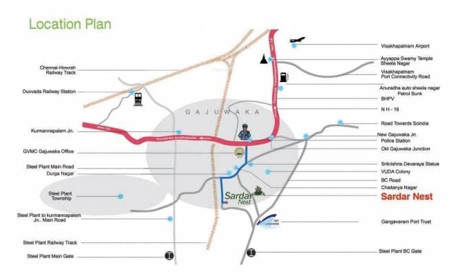 Sardar Villas Location Plan