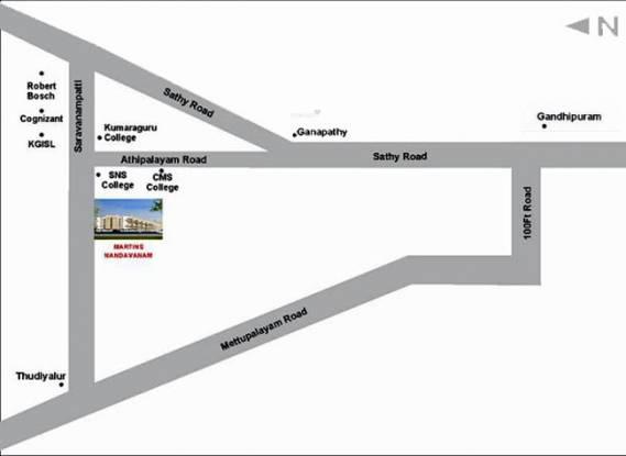 Martin Nandavanam Location Plan
