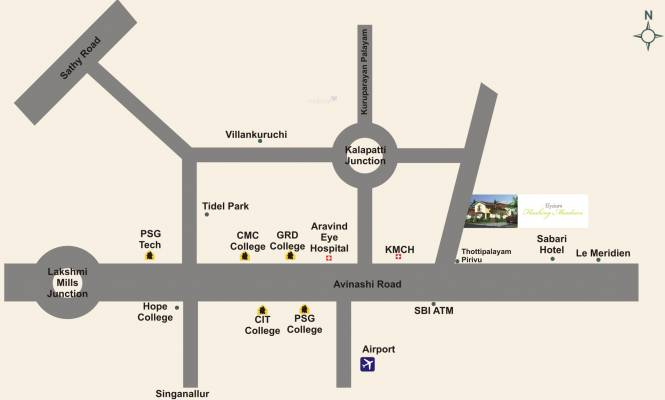 Elysium Flushing Meadows Location Plan