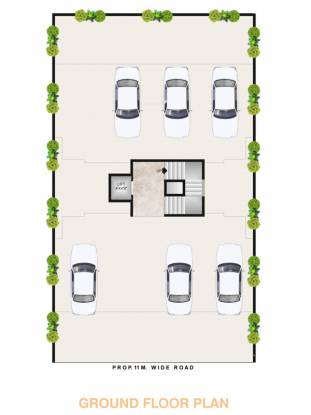 Raj Apartment Cluster Plan