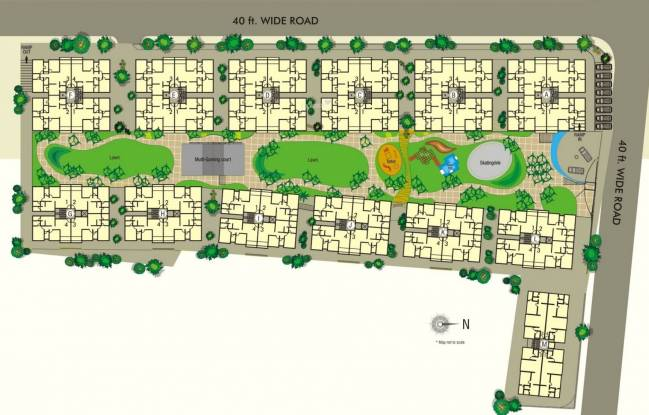 Shaligram Garden Residency I Site Plan