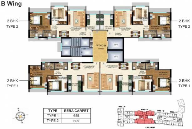 Raj Arcades Kalpavruksh Heights Cluster Plan