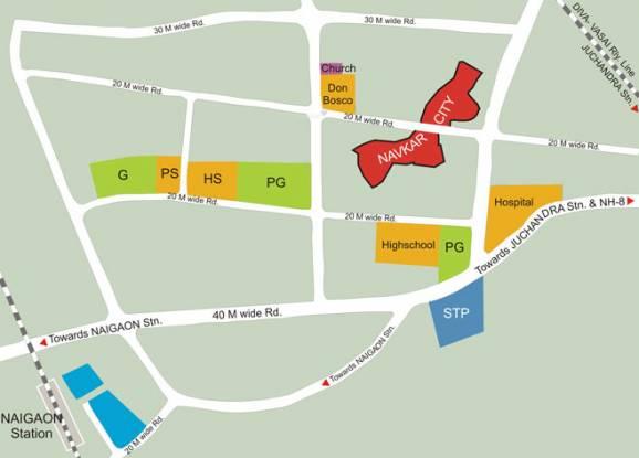 Navkar City Phase 2 Location Plan