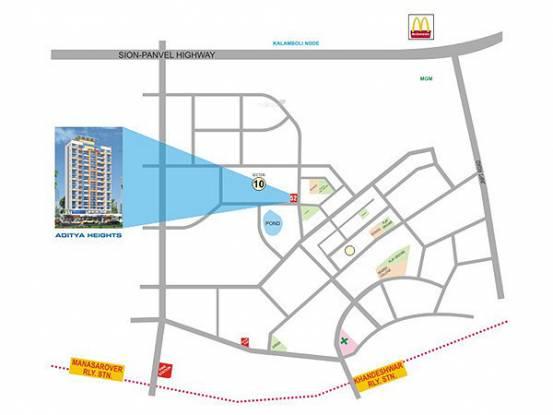 Earth Aditya Heights Location Plan