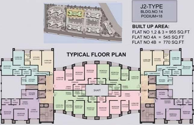 Ajmera Bhakti Park Cluster Plan