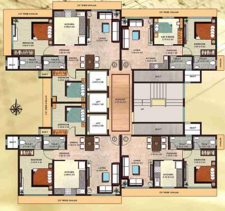 Raj Raj Residency Cluster Plan