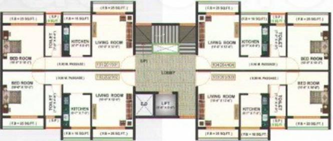 Hi Tech Tulsi Residency Cluster Plan