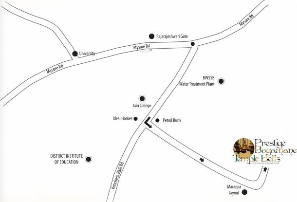 Prestige Bagamane Temple Bells Location Plan