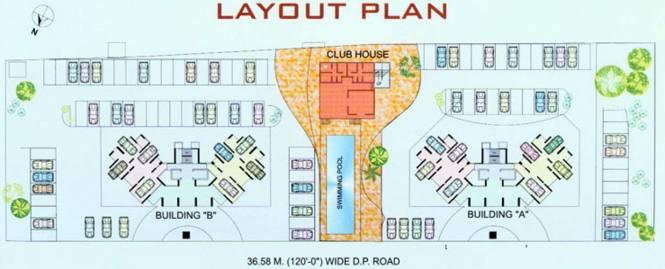 Samarth Meghdoot Tower Layout Plan