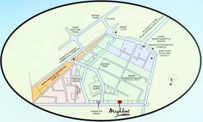 Samarth Meghdoot Tower Location Plan