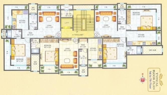 Kandivalikar Pavsha Castle Cluster Plan