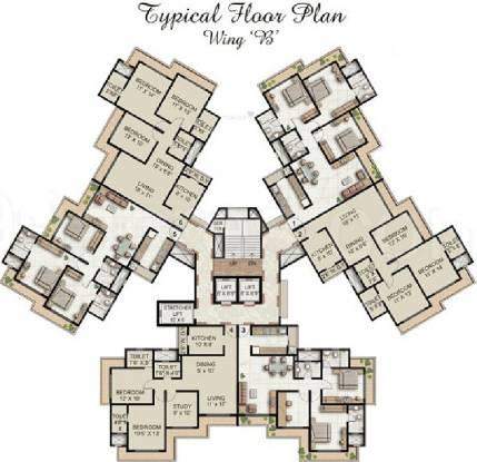 Supreme Lake Homes Cluster Plan