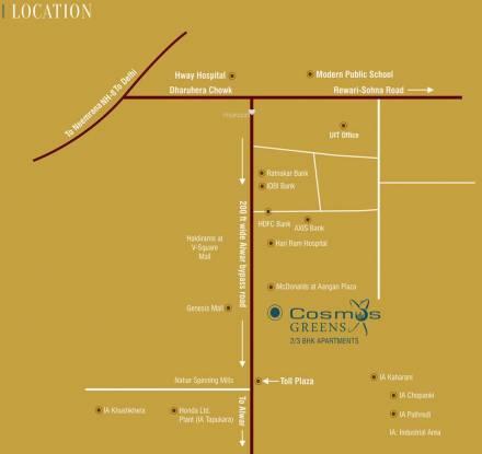 Cosmos Greens Location Plan