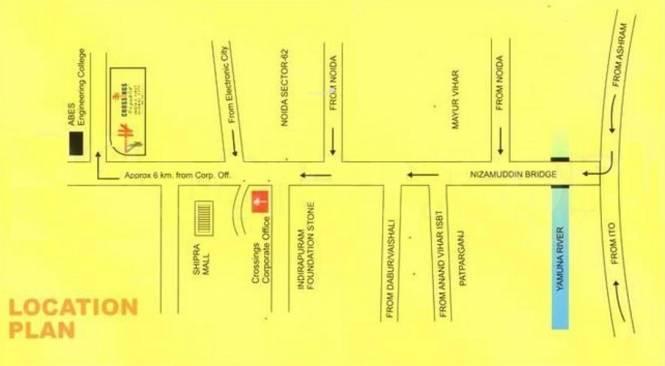 Crossings Infra Location Plan