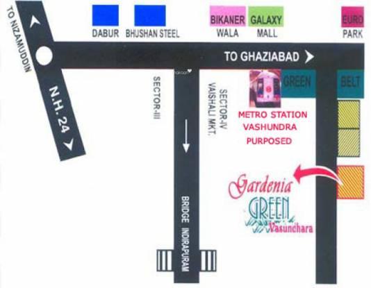 Gardenia Greens Location Plan