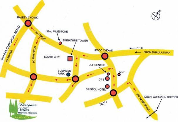SS Mayfield Garden Location Plan