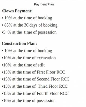 Chiranjeevi Royal Avenue Payment Plan