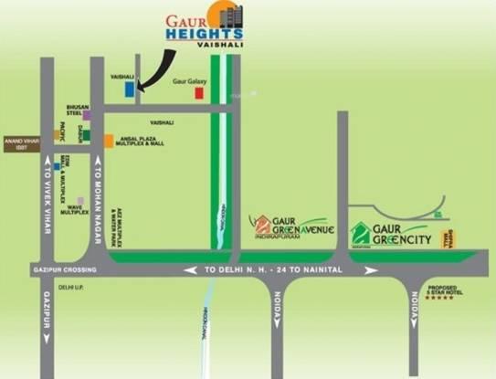 Gaursons Heights Location Plan