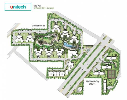 Unitech Uniworld City South Site Plan