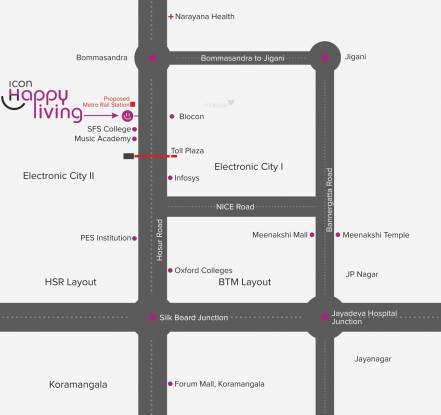 Icon Happy Living Location Plan
