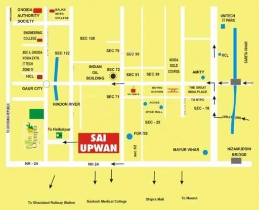 Globus Sai Upvan Location Plan