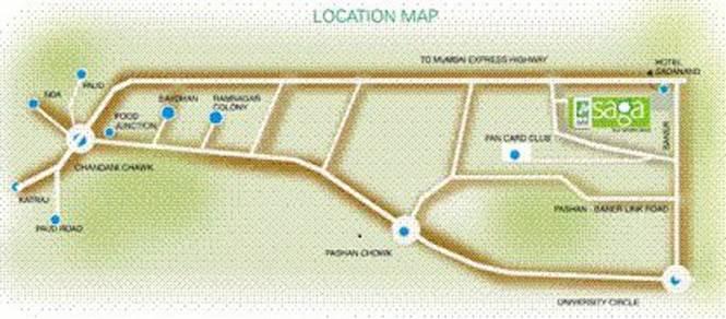 Phadnis Sahil Saga Location Plan