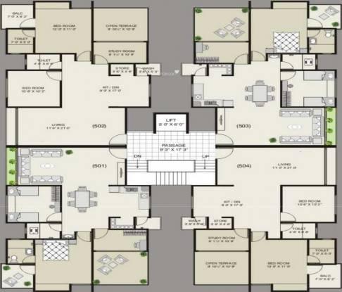 Mandot Sumeru Residency Cluster Plan