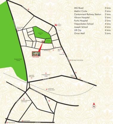 Mittal Luxuria Location Plan