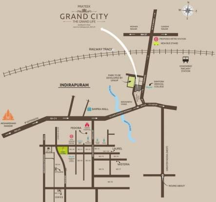 Prateek Grand Carnesia Location Plan