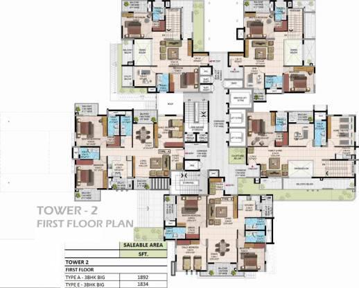 Jain Grand West Cluster Plan
