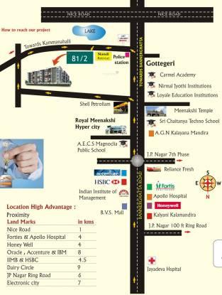 Nandana Gardenia Location Plan