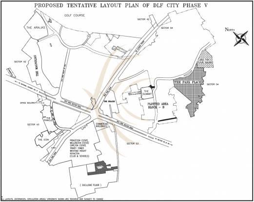 DLF Park Place Location Plan
